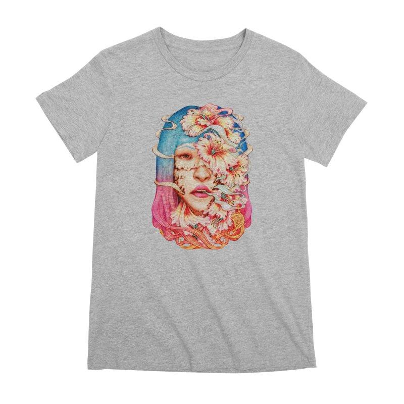 The Shape of Flowers Women's Premium T-Shirt by villainmazk's Artist Shop