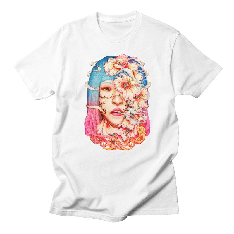 The Shape of Flowers in Men's Regular T-Shirt White by villainmazk's Artist Shop