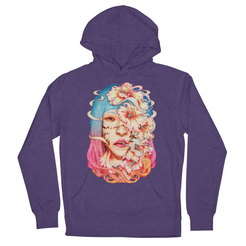 The Shape of Flowers Women's French Terry Pullover Hoody by villainmazk's Artist Shop