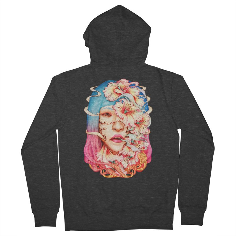 The Shape of Flowers Women's French Terry Zip-Up Hoody by villainmazk's Artist Shop