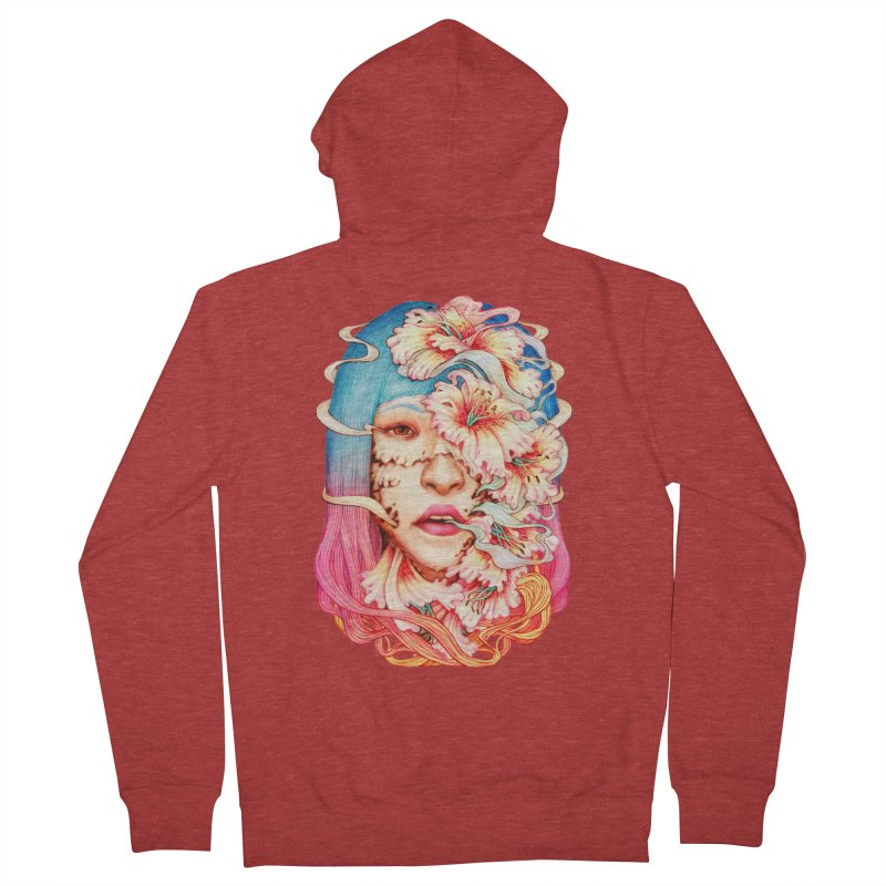 The Shape of Flowers Men's French Terry Zip-Up Hoody by villainmazk's Artist Shop