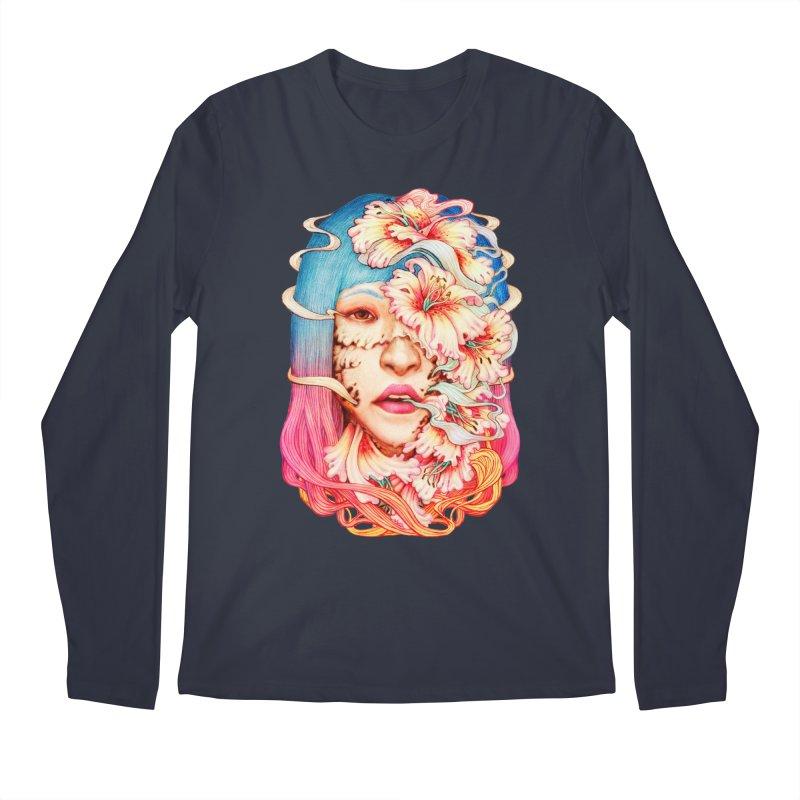 The Shape of Flowers Men's Regular Longsleeve T-Shirt by villainmazk's Artist Shop