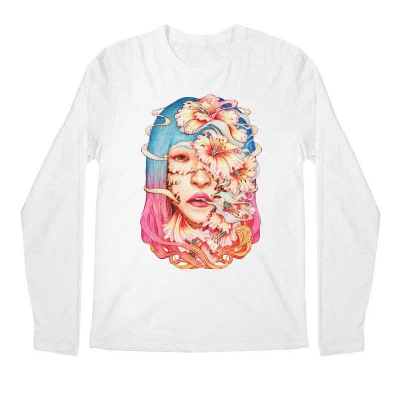 The Shape of Flowers Men's Regular Longsleeve T-Shirt by villainmazk's Artist Shop