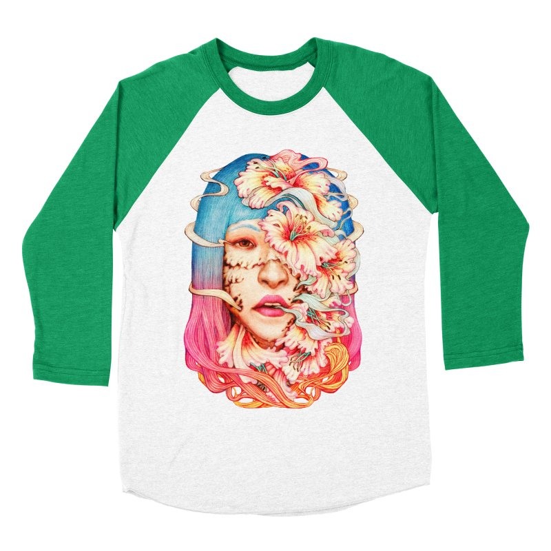 The Shape of Flowers Women's Baseball Triblend Longsleeve T-Shirt by villainmazk's Artist Shop