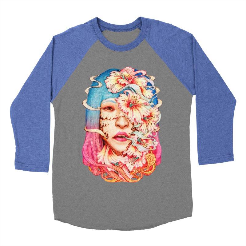 The Shape of Flowers Men's Baseball Triblend T-Shirt by villainmazk's Artist Shop