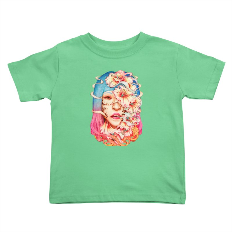 The Shape of Flowers Kids Toddler T-Shirt by villainmazk's Artist Shop
