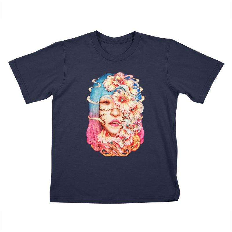 The Shape of Flowers Kids T-Shirt by villainmazk's Artist Shop