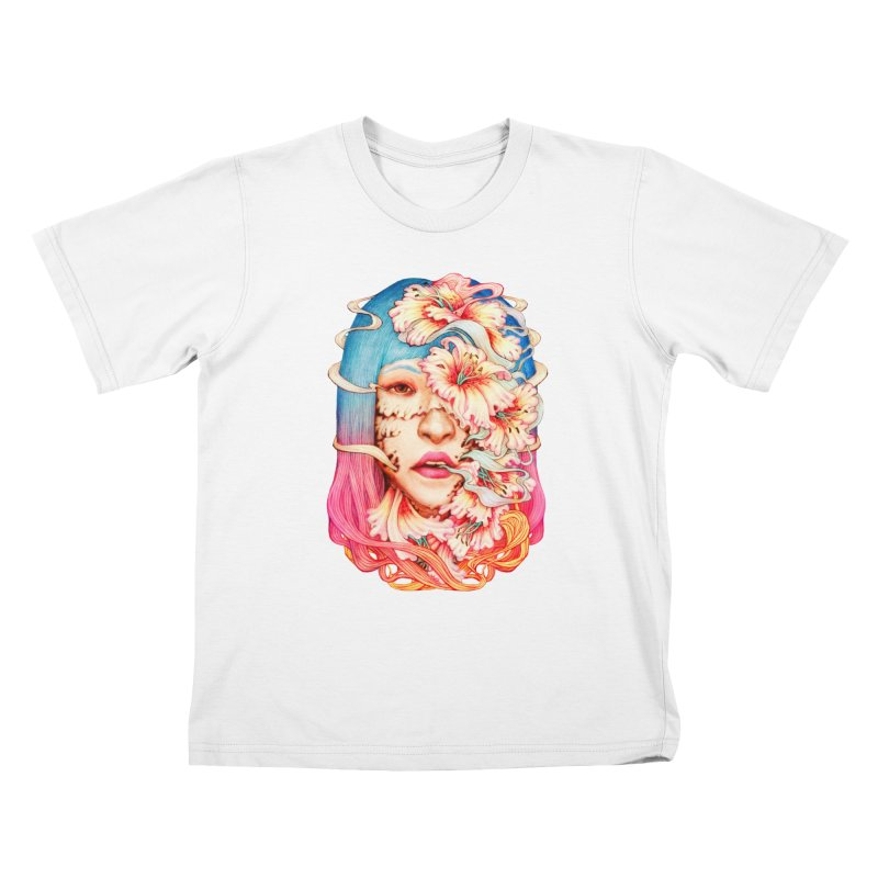 The Shape of Flowers Kids T-Shirt by villainmazk's Artist Shop