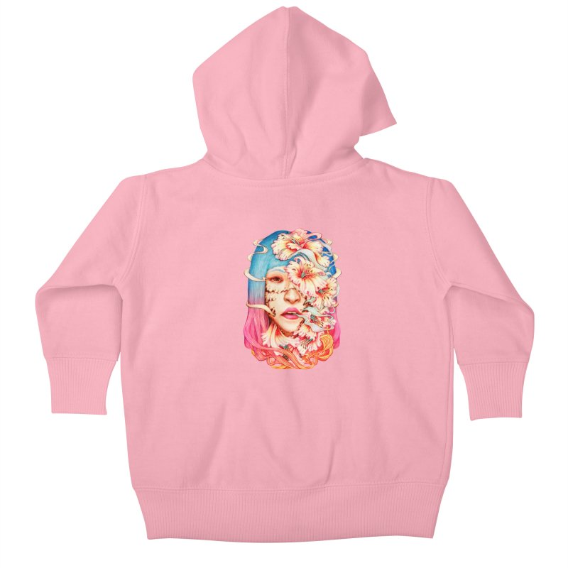 The Shape of Flowers Kids Baby Zip-Up Hoody by villainmazk's Artist Shop