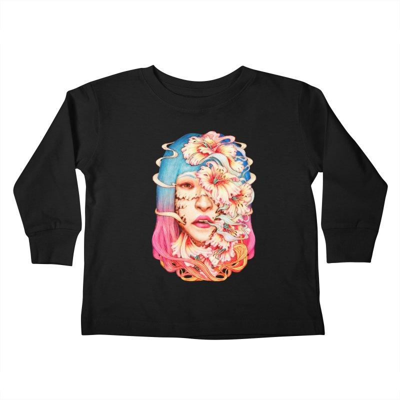 The Shape of Flowers Kids Toddler Longsleeve T-Shirt by villainmazk's Artist Shop