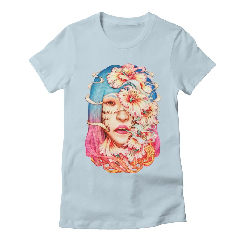 The Shape of Flowers Women's Fitted T-Shirt by villainmazk's Artist Shop