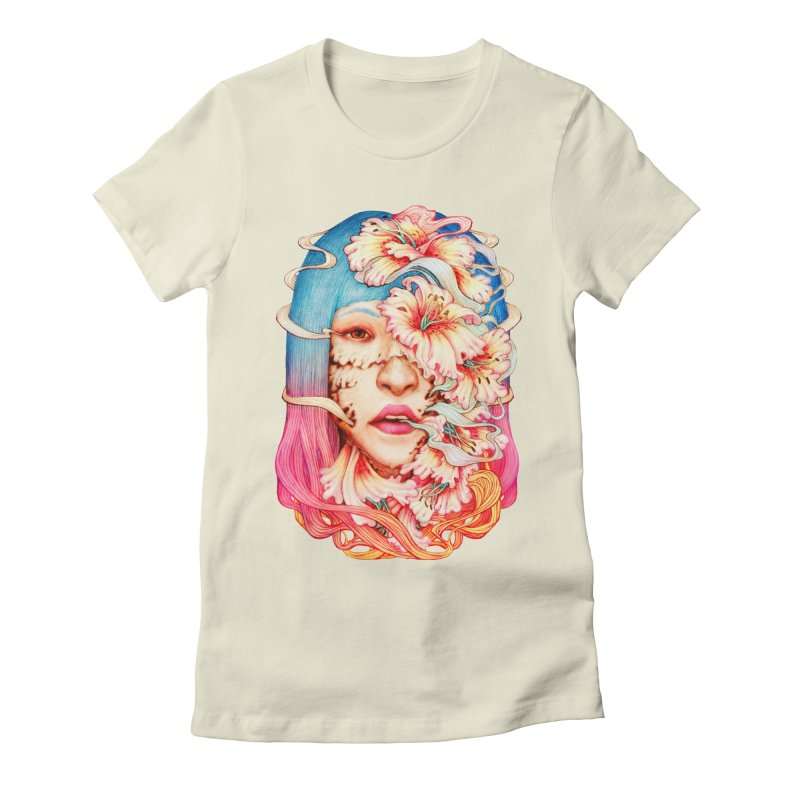 The Shape of Flowers Women's Fitted T-Shirt by villainmazk's Artist Shop