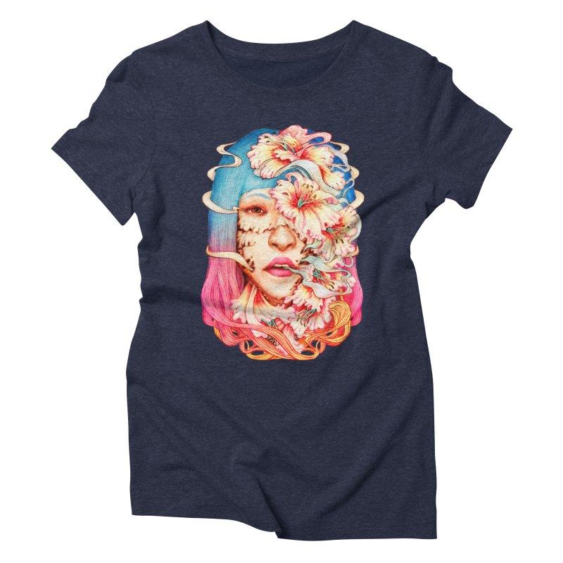 The Shape of Flowers Women's Triblend T-Shirt by villainmazk's Artist Shop