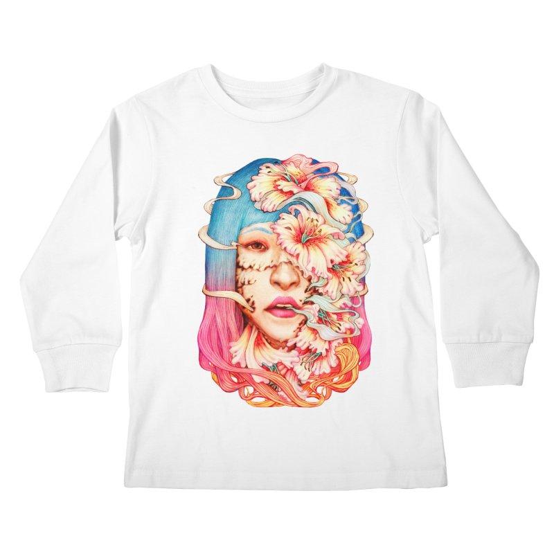 The Shape of Flowers Kids Longsleeve T-Shirt by villainmazk's Artist Shop