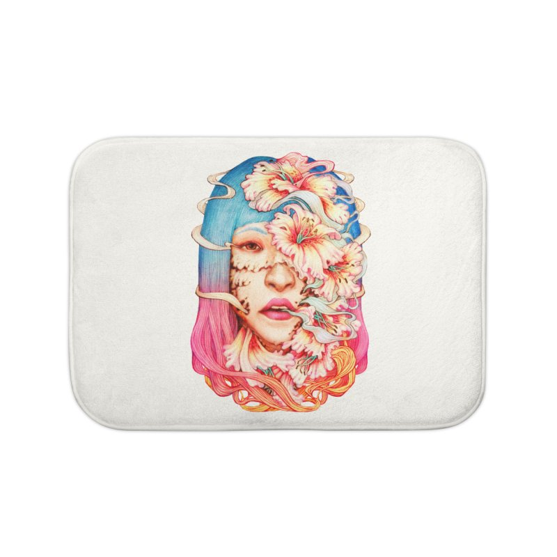 The Shape of Flowers Home Bath Mat by villainmazk's Artist Shop