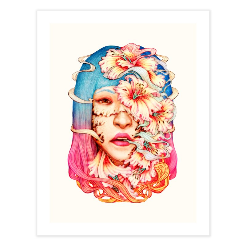 The Shape of Flowers Home Fine Art Print by villainmazk's Artist Shop