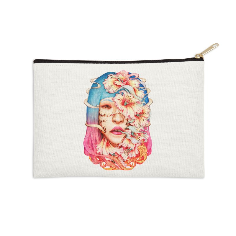 The Shape of Flowers Accessories Zip Pouch by villainmazk's Artist Shop