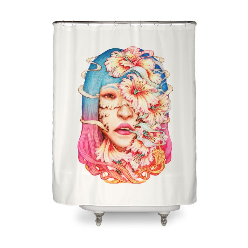 The Shape of Flowers Home Shower Curtain by villainmazk's Artist Shop
