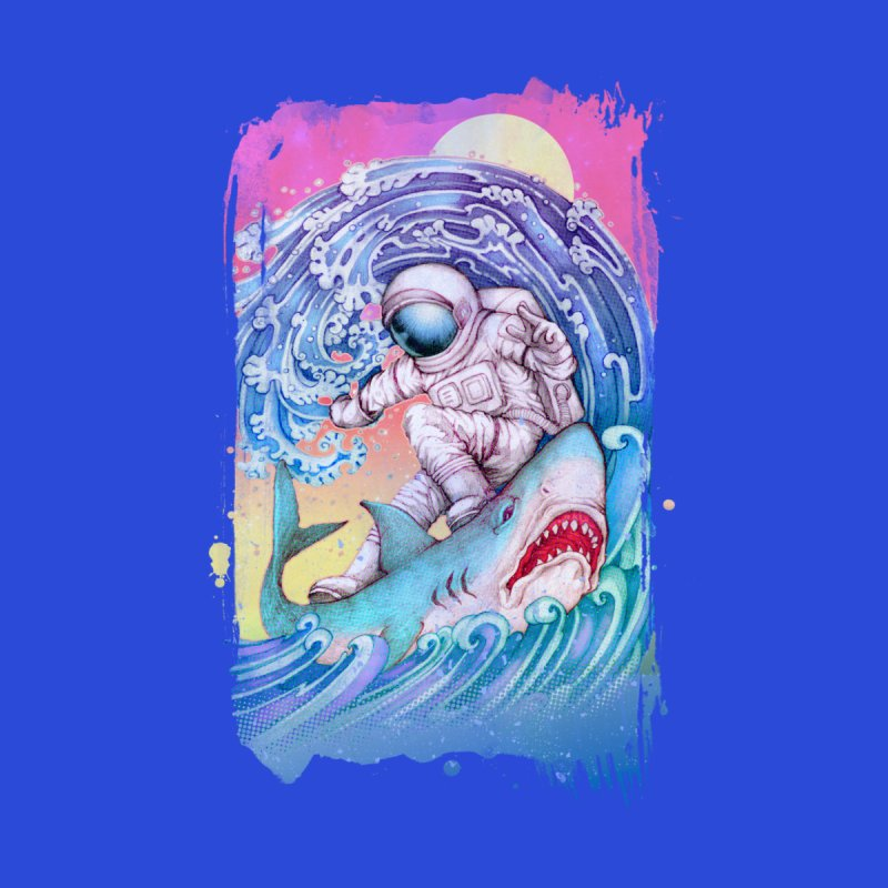 Shark Surfer Women's V-Neck by villainmazk's Artist Shop