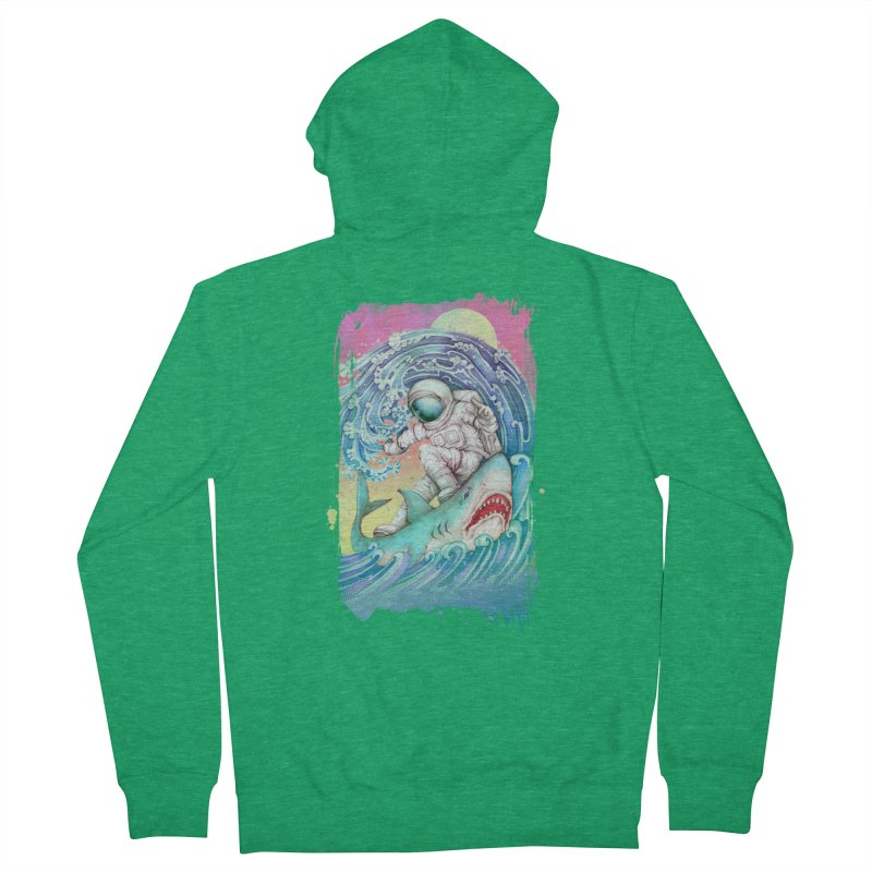 Shark Surfer Men's Zip-Up Hoody by villainmazk's Artist Shop