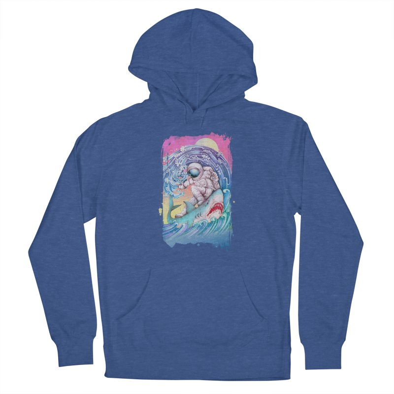 Shark Surfer Women's French Terry Pullover Hoody by villainmazk's Artist Shop