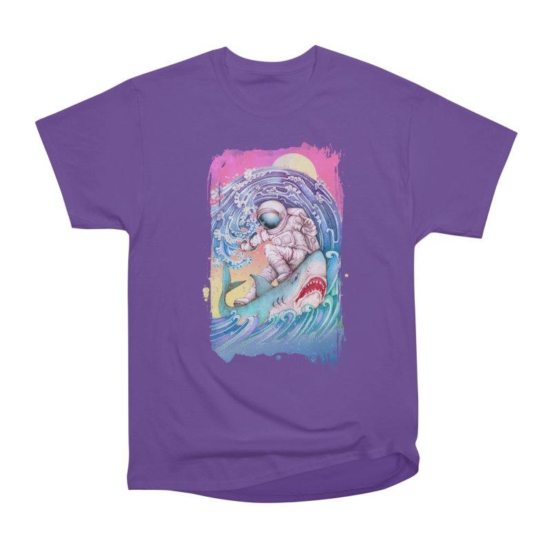 Shark Surfer Men's Heavyweight T-Shirt by villainmazk's Artist Shop