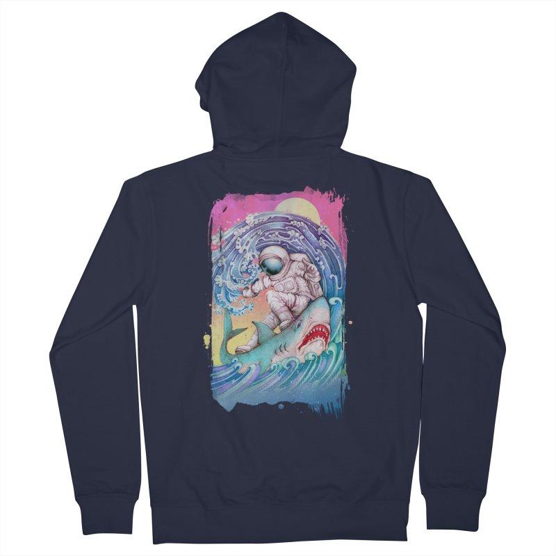 Shark Surfer Women's Zip-Up Hoody by villainmazk's Artist Shop