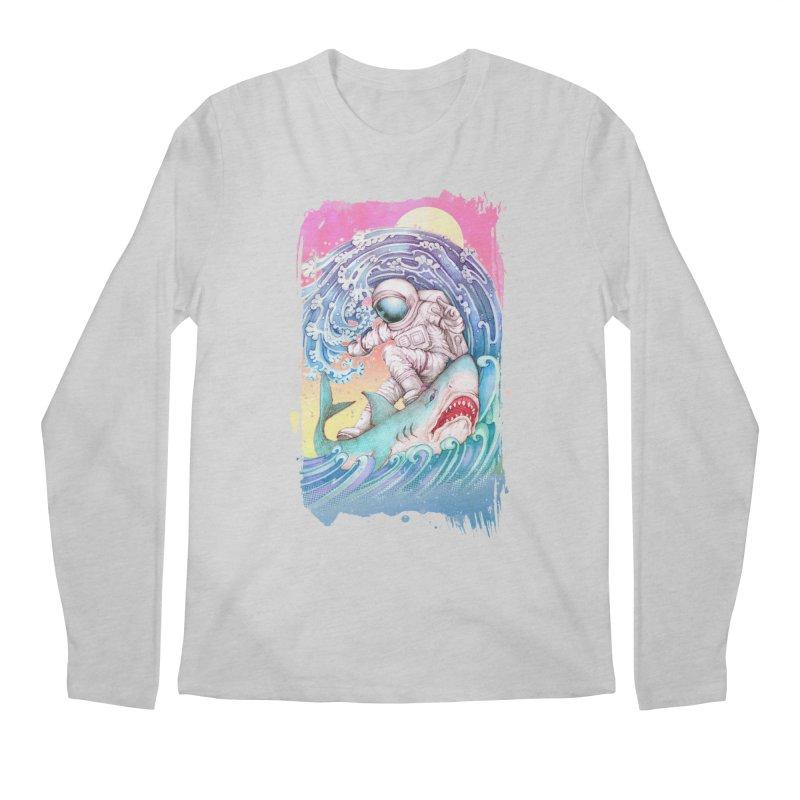 Shark Surfer Men's Regular Longsleeve T-Shirt by villainmazk's Artist Shop
