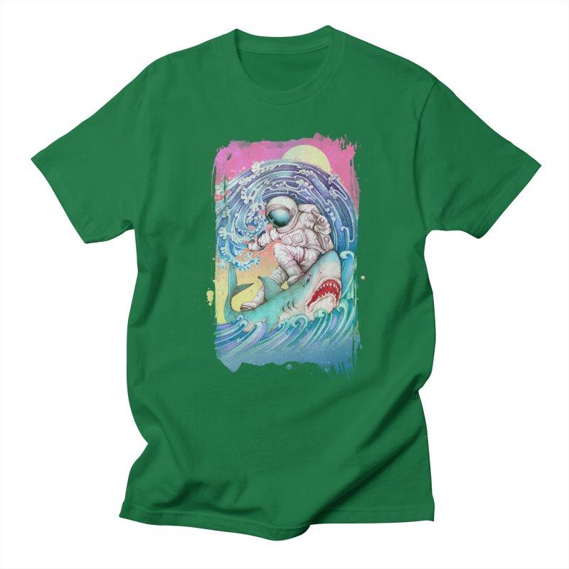 Shark Surfer Men's Regular T-Shirt by villainmazk's Artist Shop