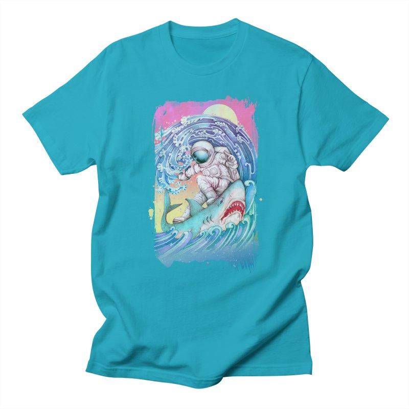 Shark Surfer Women's Unisex T-Shirt by villainmazk's Artist Shop