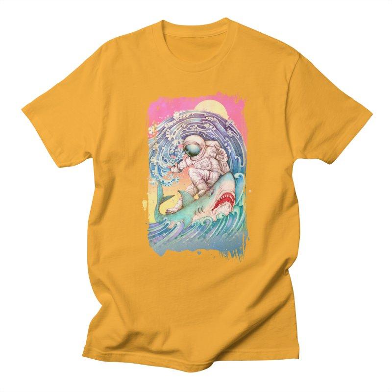 Shark Surfer Men's T-Shirt by villainmazk's Artist Shop