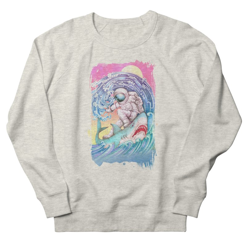 Shark Surfer Women's French Terry Sweatshirt by villainmazk's Artist Shop