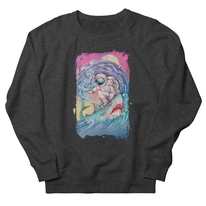 Shark Surfer Men's French Terry Sweatshirt by villainmazk's Artist Shop