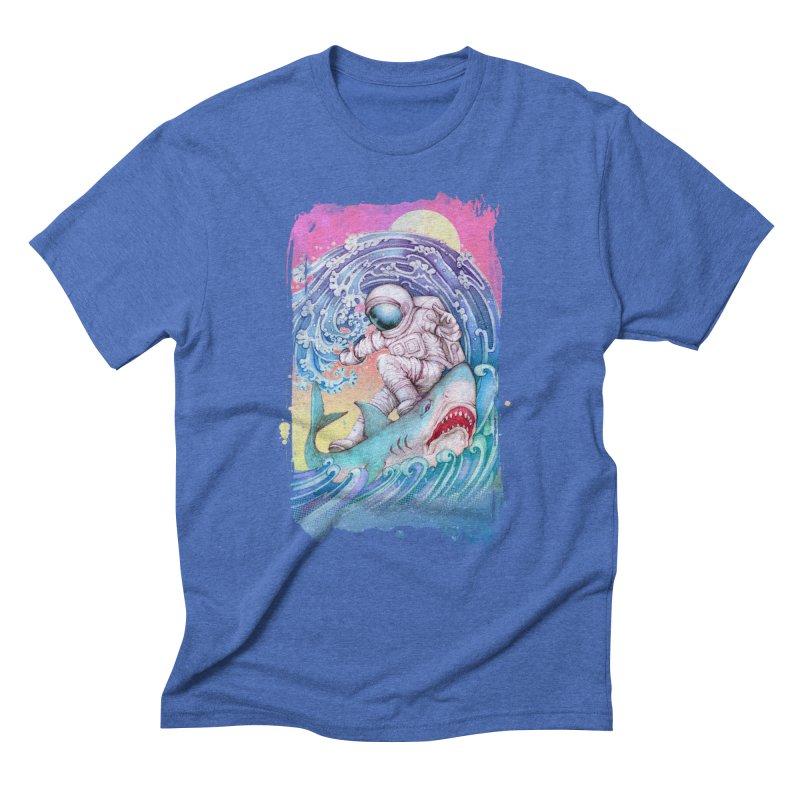 Shark Surfer Men's Triblend T-Shirt by villainmazk's Artist Shop