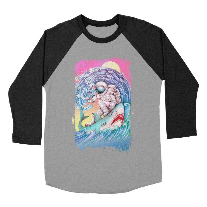 Shark Surfer Men's Baseball Triblend Longsleeve T-Shirt by villainmazk's Artist Shop