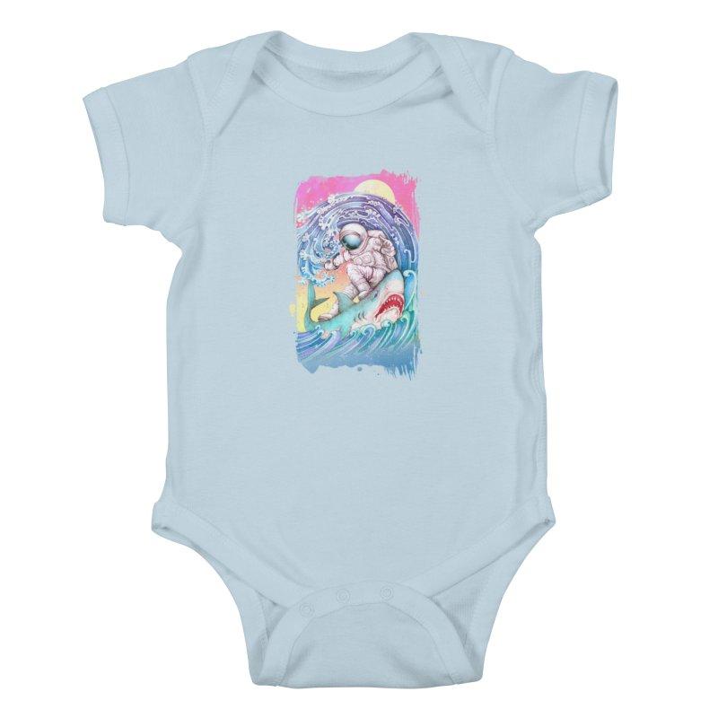 Shark Surfer Kids Baby Bodysuit by villainmazk's Artist Shop