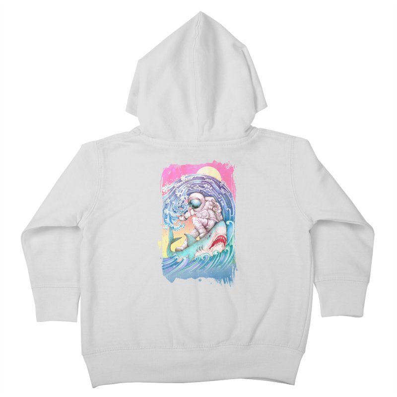 Shark Surfer Kids Toddler Zip-Up Hoody by villainmazk's Artist Shop