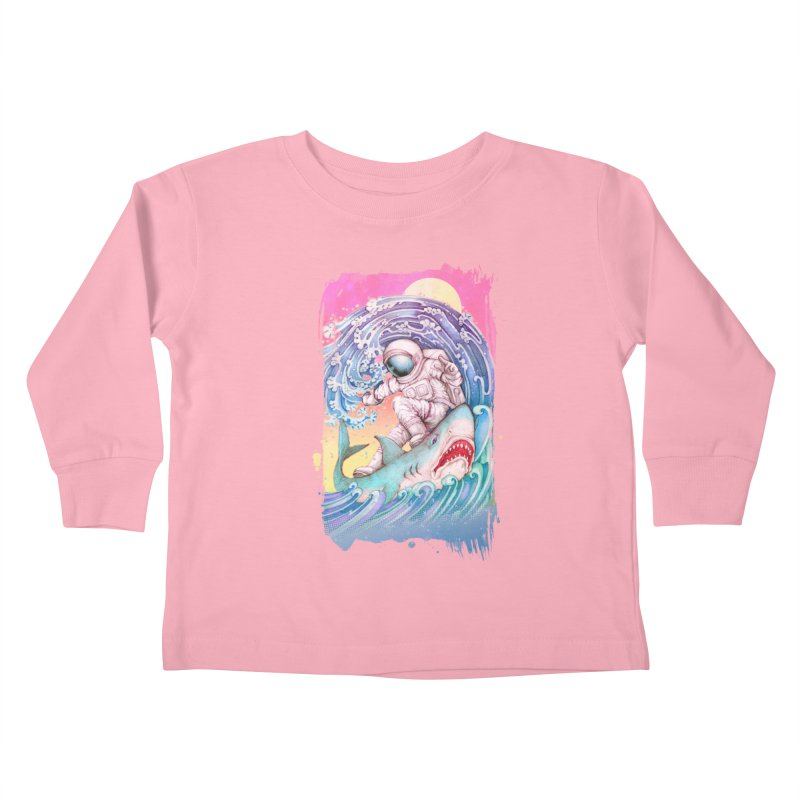 Shark Surfer Kids Toddler Longsleeve T-Shirt by villainmazk's Artist Shop