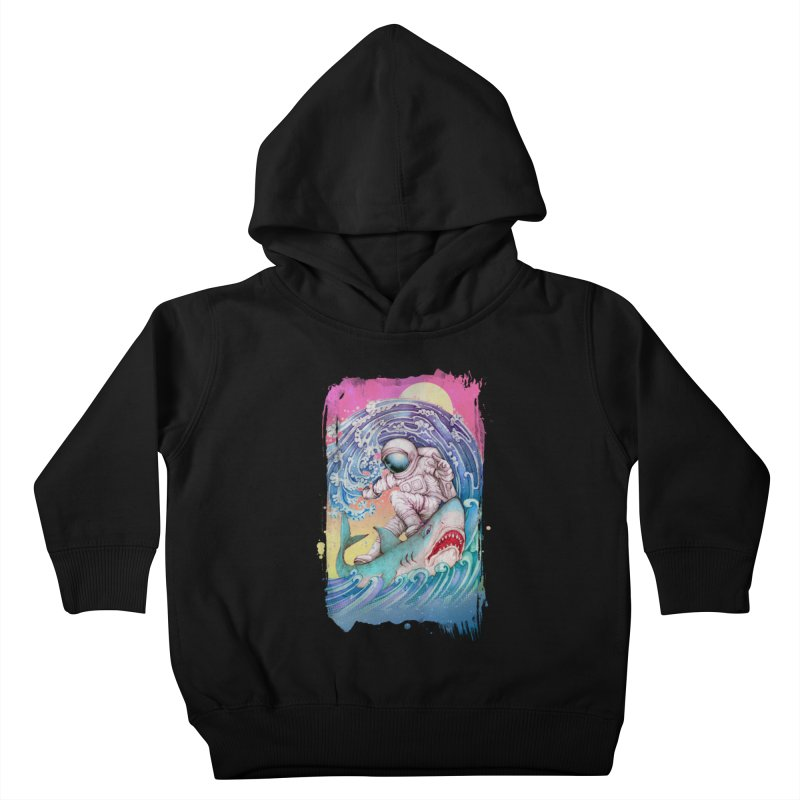 Shark Surfer Kids Toddler Pullover Hoody by villainmazk's Artist Shop