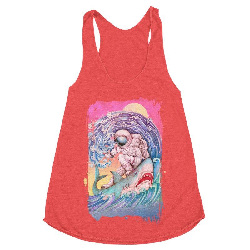 Shark Surfer Women's Tank by villainmazk's Artist Shop