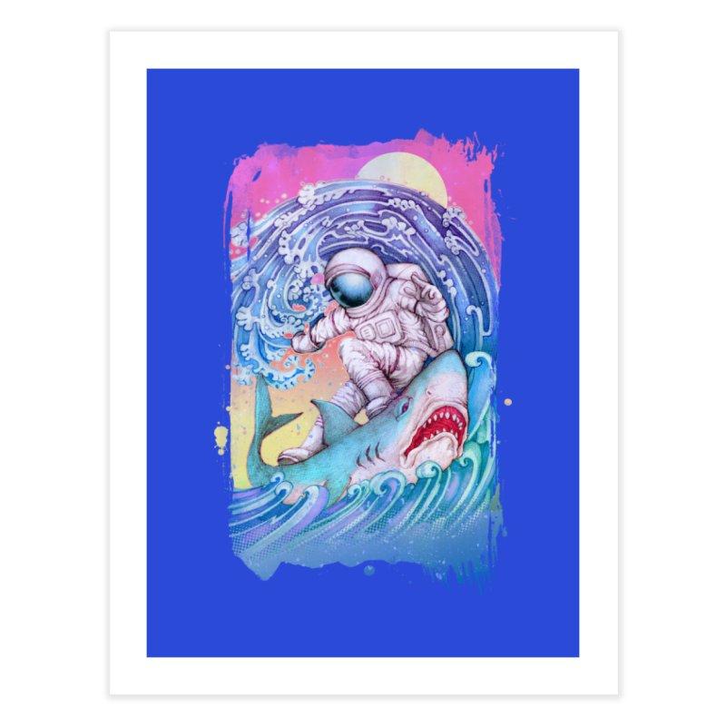 Shark Surfer Home Fine Art Print by villainmazk's Artist Shop