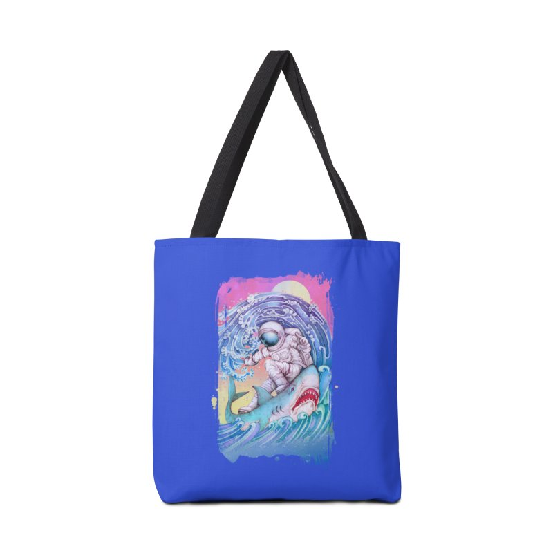 Shark Surfer Accessories Tote Bag Bag by villainmazk's Artist Shop