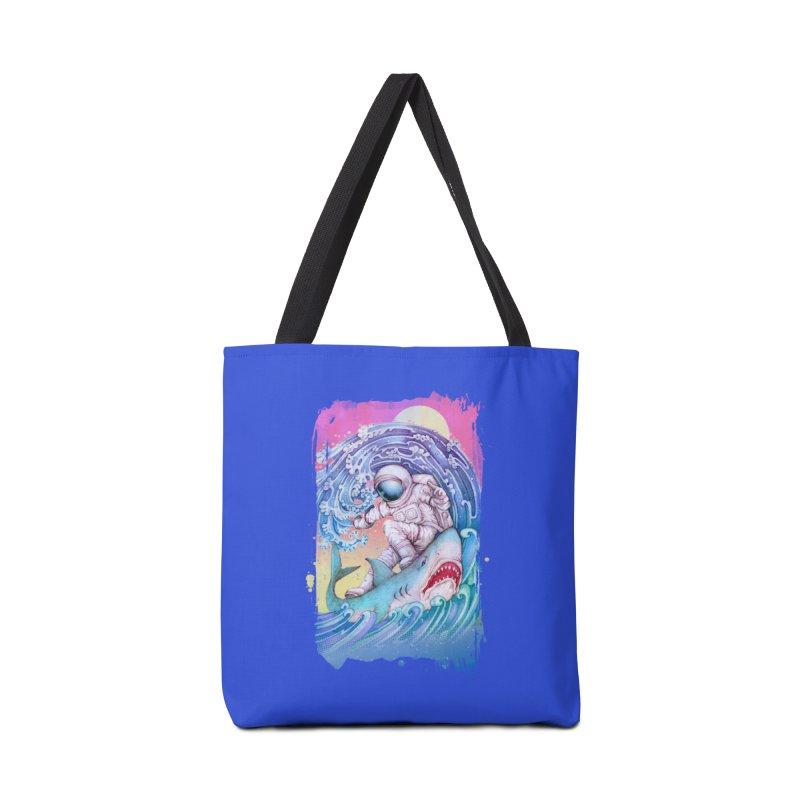 Shark Surfer Accessories Bag by villainmazk's Artist Shop