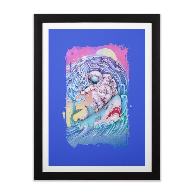 Shark Surfer Home Framed Fine Art Print by villainmazk's Artist Shop