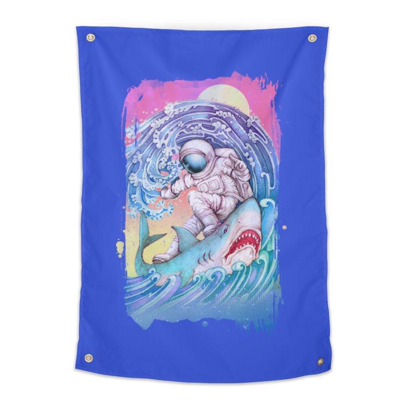 Shark Surfer Home Tapestry by villainmazk's Artist Shop