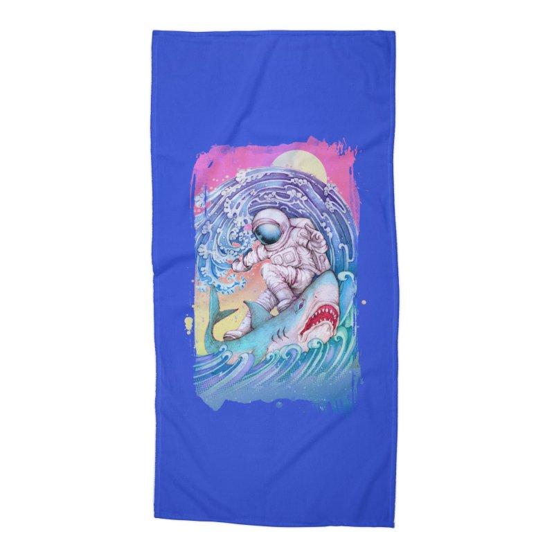 Shark Surfer Accessories Beach Towel by villainmazk's Artist Shop