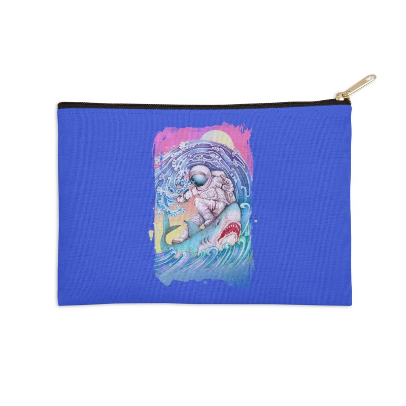 Shark Surfer Accessories Zip Pouch by villainmazk's Artist Shop