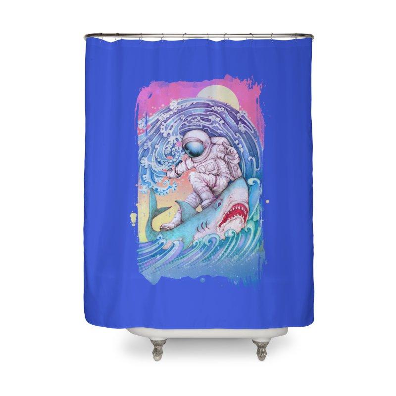 Shark Surfer Home Shower Curtain by villainmazk's Artist Shop