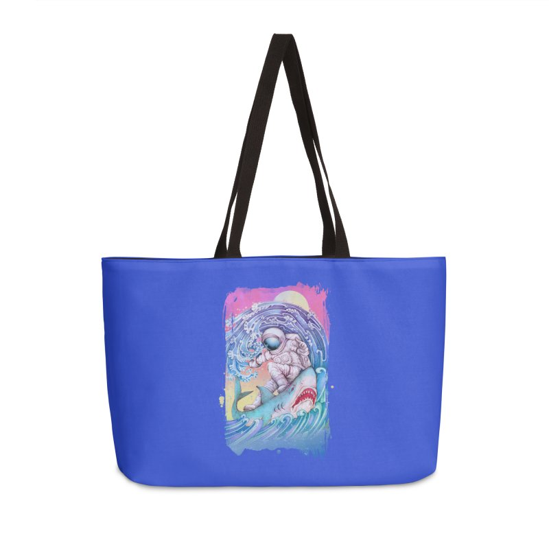 Shark Surfer Accessories Bag by villainmazk's Artist Shop