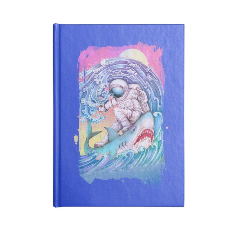 Shark Surfer Accessories Notebook by villainmazk's Artist Shop
